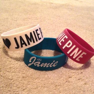 I Love Jamie Pine Wristband